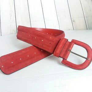 [VINTAGE] NORDSTROM red leather wide belt